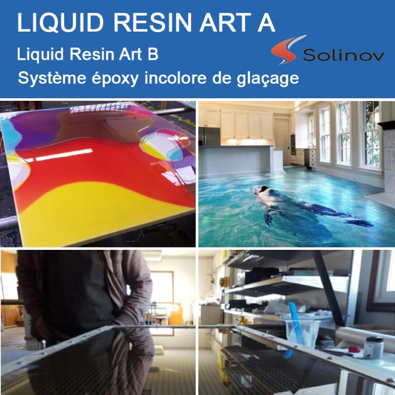 resine epoxy incolore table riviere